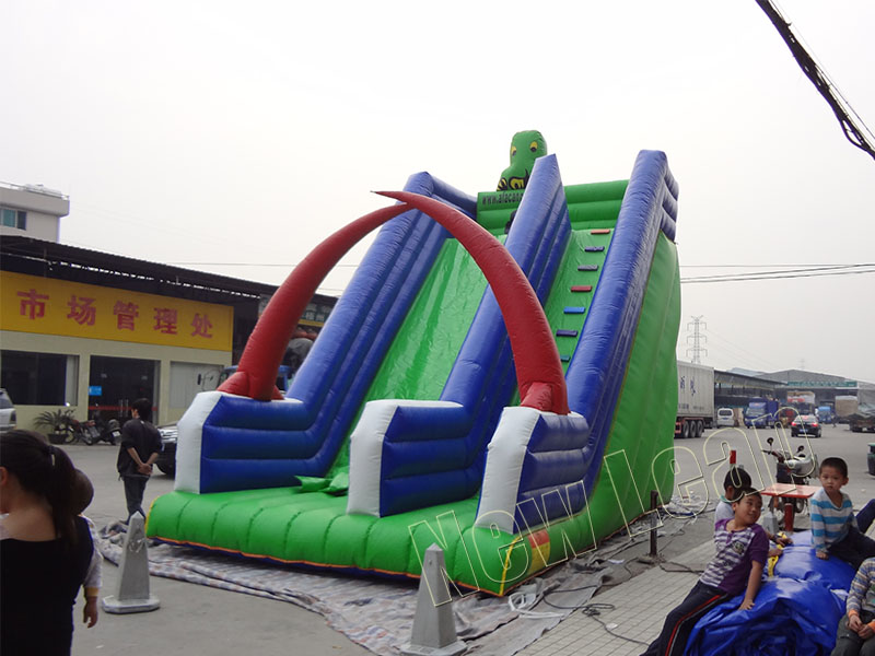 dry inflatable slide
