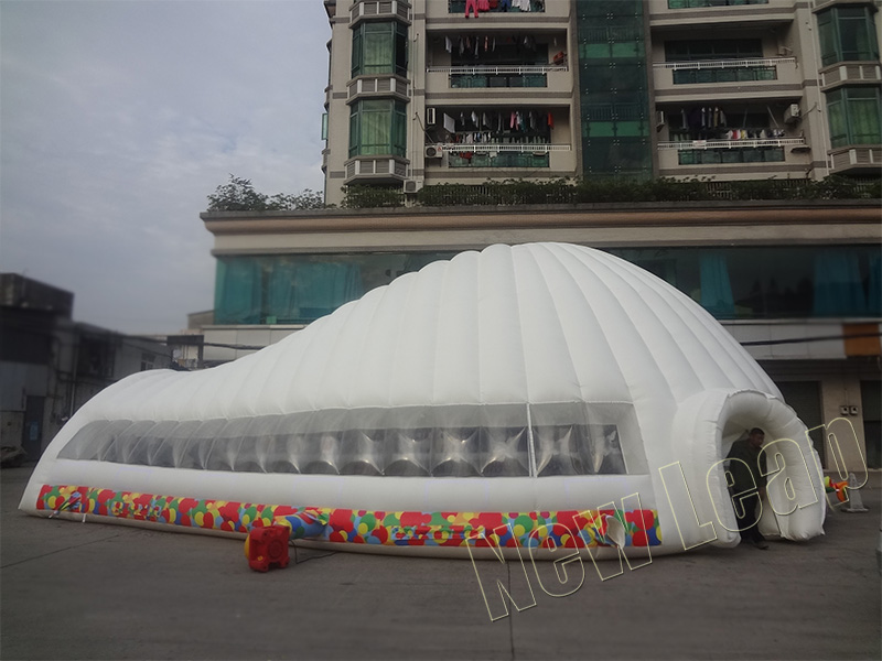 Inflatable dome shape tent