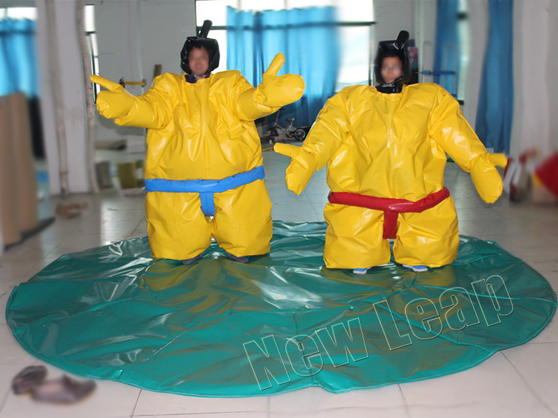 inflatable sumo suits wrestling mat