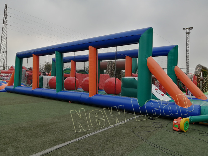 leaps and bounds wipeout inflatable obstacle