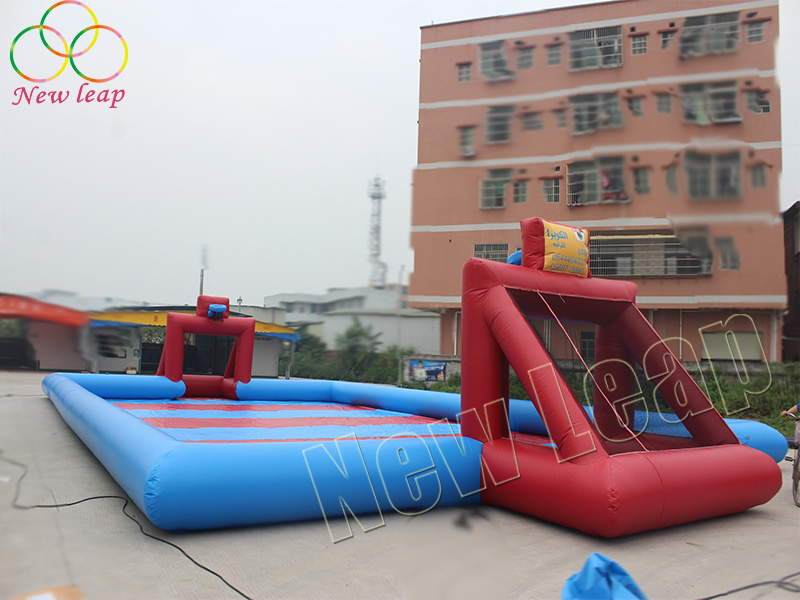 inflatable soap football pitch