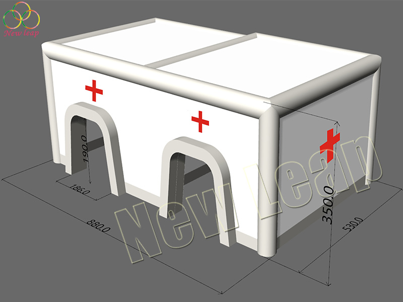 airtight inflatable medical tent