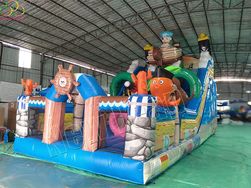 pirate inflatable slide