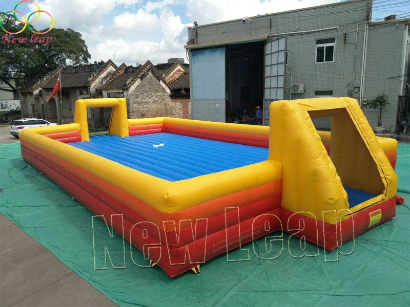 soap inflatable football field