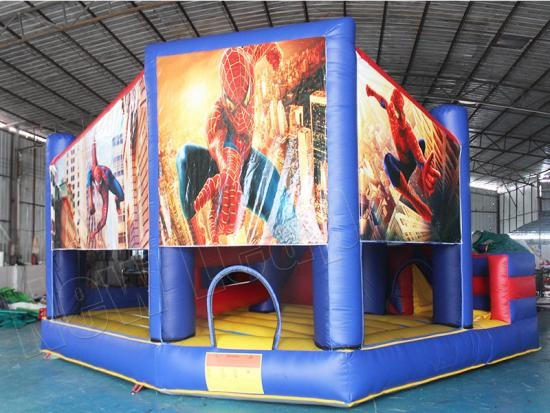 Spiderman castillo inflable de salto con tobogán