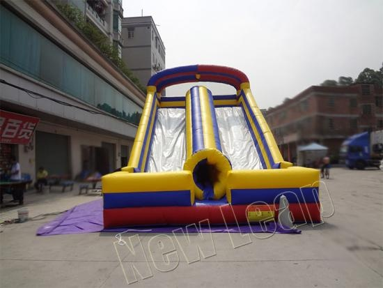 doble tobogán inflable