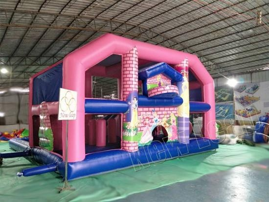 inflatable castle with pool