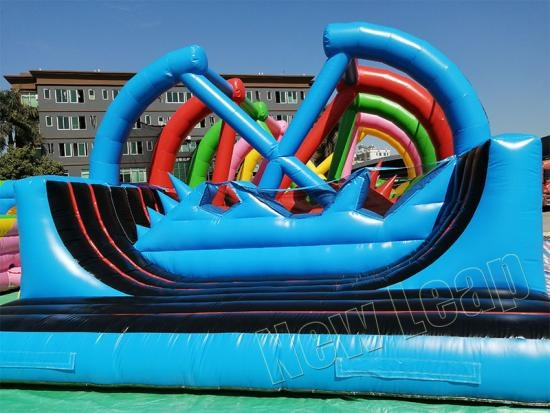 Inflatable obstacle course games