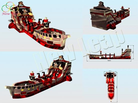 large inflatable pirate ship
