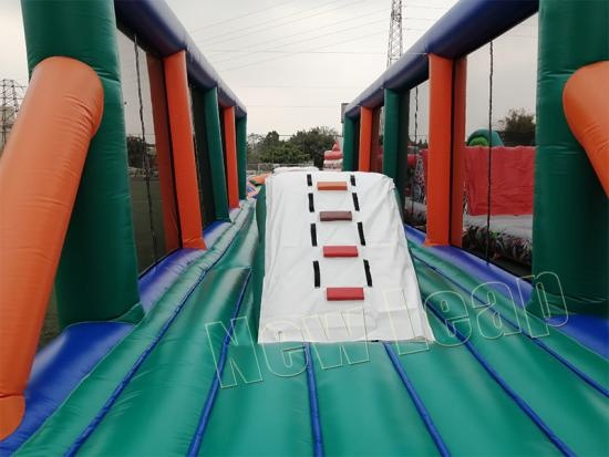 wipeout big red balls inflatable course race