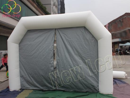 Inflatable camping tent