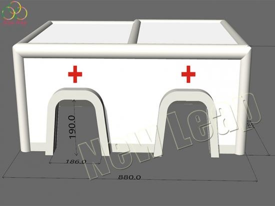 inflatable medical rahab tent