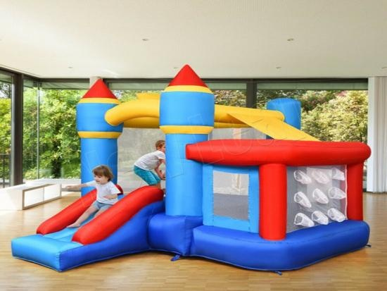 bouncy playhouse with slide