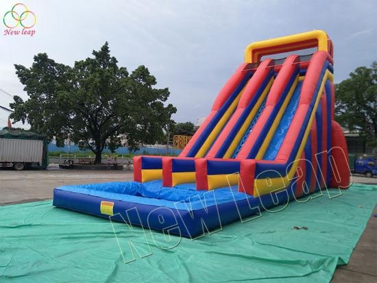 new giant double lane slip slide