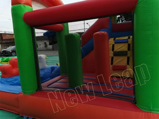 inflatable bouncy house combo water pool