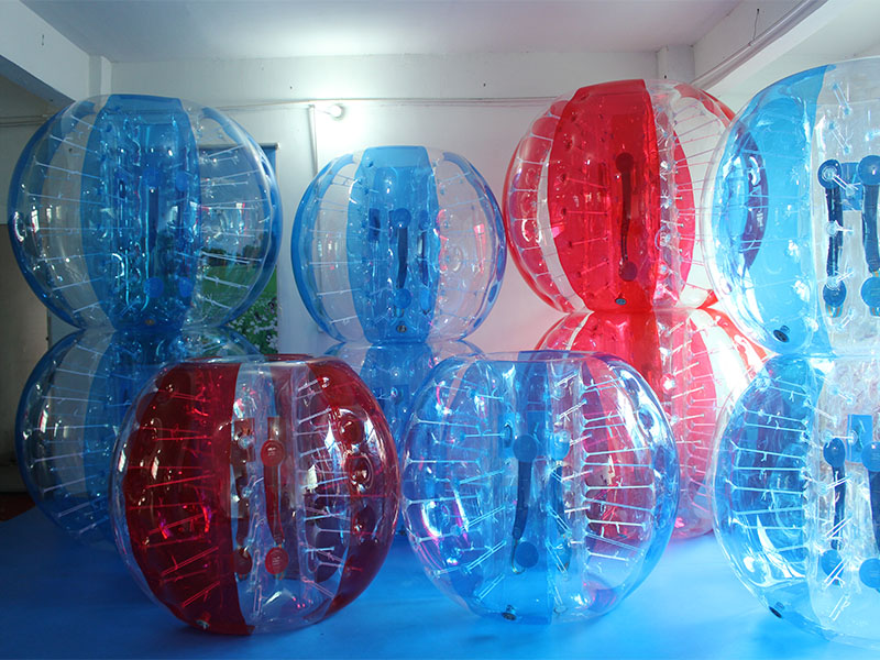 balones inflables, zorbs y rampas