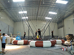 bungee inflable para 4 personas